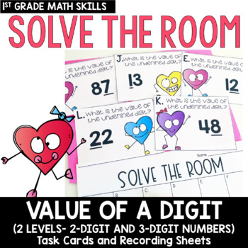Solve the Room - Value of a Digit: A Math Center Task Card Set