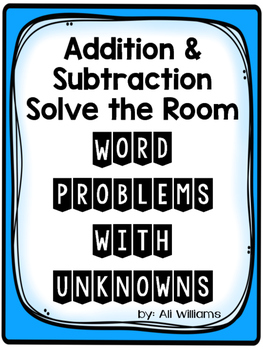 Solve the Room: Word Problems with Unknowns