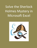 Solve the Sherlock Holmes Mystery in Microsoft Excel Distance Learning