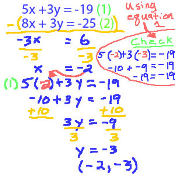 Solve the System of Equations 200 questions, (Worksheet)
