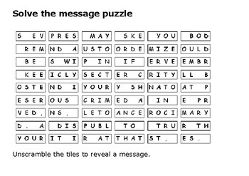 Solve the message puzzle about Burke and Hare
