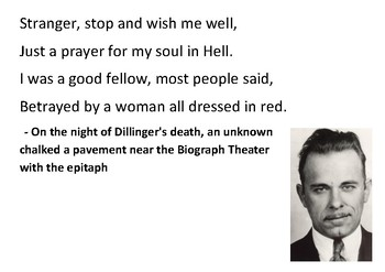 Solve the message puzzle about John Dillinger