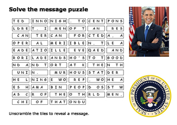 Solve the message puzzle about Osama bin Laden