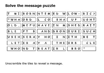 Solve the message puzzle about Thomas Becket