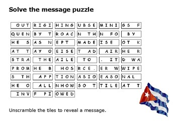 Solve the message puzzle about the Bay of Pigs Invasion