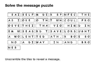Solve the message puzzle about the Black Death 1348