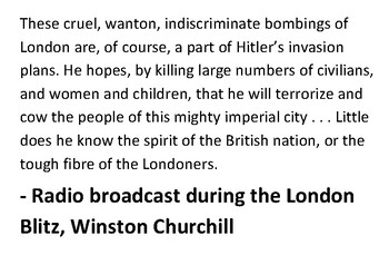 Solve the message puzzle about the Blitz Winston Churchill Quote World War Two