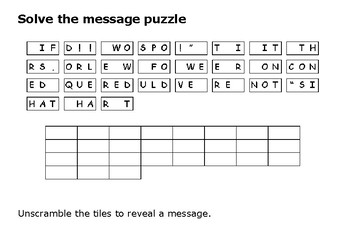 Solve the message puzzle about the British Empire