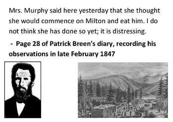 Solve the message puzzle about the Donner Party