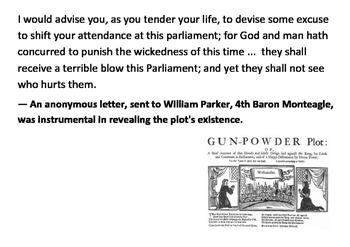 Solve the message puzzle about the Gunpowder Plot
