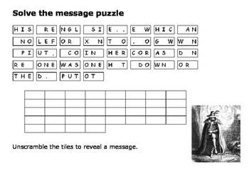 Solve the message puzzle about the Gunpowder Plot