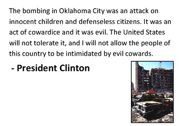 Solve the message puzzle about the Oklahoma City Bombing