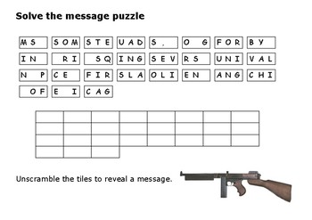 Solve the message puzzle about the Saint Valentines Day Massacre 1929