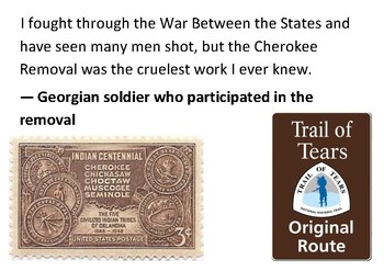 Solve the message puzzle about the Trail of Tears