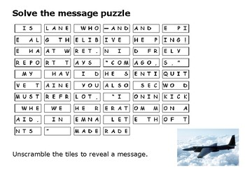 Solve the message puzzle about the U2 Incident