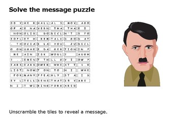 Solve the message puzzle from Adolf Hitler on the Third Reich June 1934