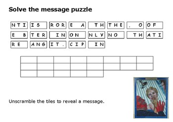Solve the message puzzle from Alfred Hitchcock
