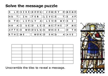 Solve the message puzzle from Alfred the Great