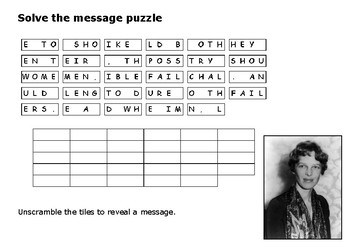 Solve the message puzzle from Amelia Earhart