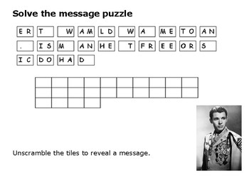 Solve the message puzzle from Audie Murphy