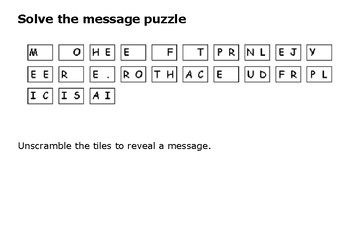 Solve the message puzzle from Bessie Coleman