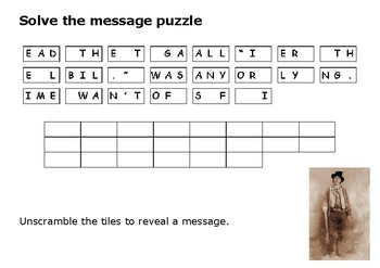 Solve the message puzzle from Billy the Kid