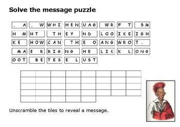 Solve the message puzzle from Black Hawk