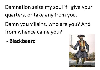 Solve the message puzzle from Blackbeard