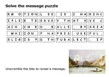 Solve the message puzzle from Charles Darwin