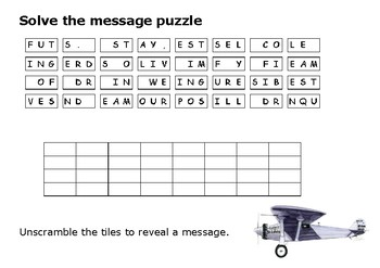 Solve the message puzzle from Charles Lindbergh