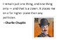 Solve the message puzzle from Charlie Chaplin