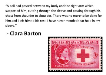 Solve the message puzzle from Clara Barton
