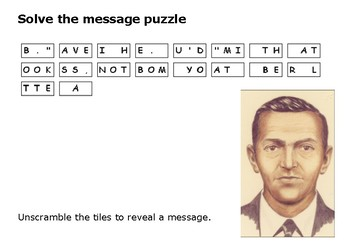 Solve the message puzzle from DB Cooper