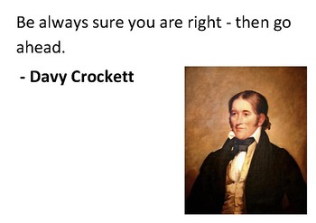 Solve the message puzzle from Davy Crockett