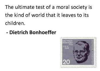 Solve the message puzzle from Dietrich Bonhoeffer