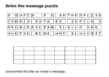 Solve the message puzzle from Doris Miller