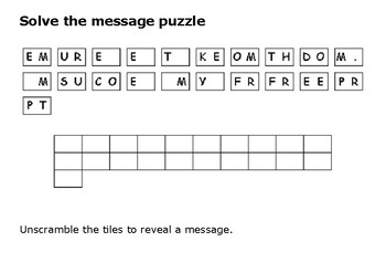 Solve the message puzzle from Dred Scott