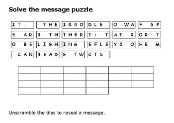 Solve the message puzzle from Edith Wharton