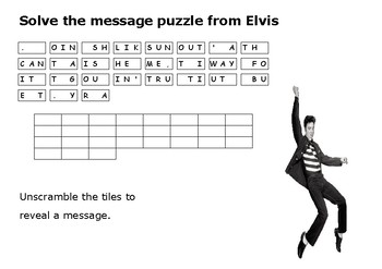 Solve the message puzzle from Elvis Presley