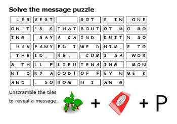 Solve the message puzzle from Forrest Gump