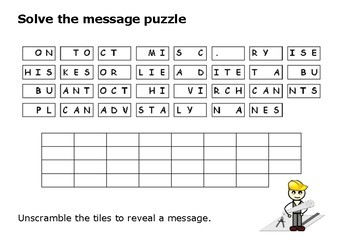 Solve the message puzzle from Frank Lloyd Wright