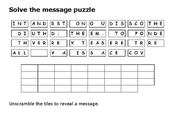 Solve the message puzzle from Galileo Galilei