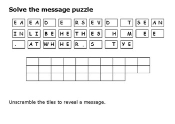Solve the message puzzle from Harry Houdini
