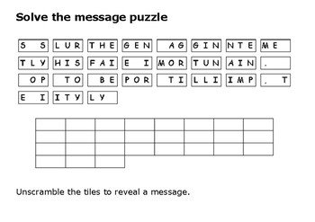 Solve the message puzzle from Henry Ford
