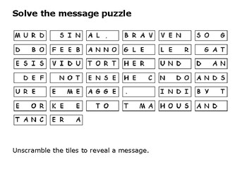 Solve the message puzzle from Ida B Wells