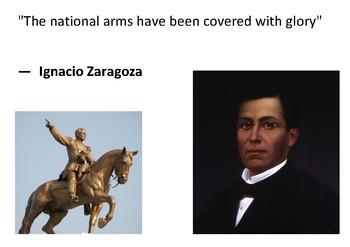 Solve the message puzzle from Ignacio Zaragoza  Cinco de Mayo