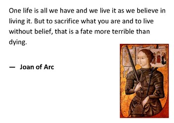 Solve the message puzzle from Joan of Arc
