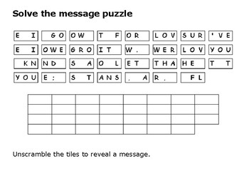 Solve the message puzzle from John Lennon
