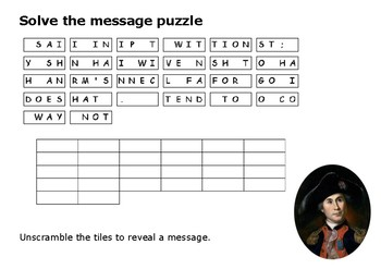 Solve the message puzzle from John Paul Jones