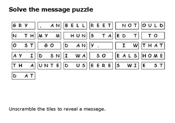 Solve the message puzzle from Joseph Merrick